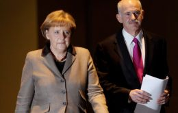 Chancellor Merkel hosted PM Papandreou in Berlin  (Photo Zimbio)