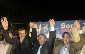 Victory celebration for the Cristina Kirchner candidates  (Photo DyN)