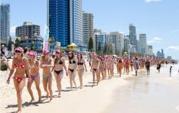 Bikinis and more bikinis, priceless advertising for Australian beaches