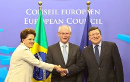 President Rousseff met leading officials from the EC and EU Council