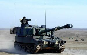 One of several M109A5 Self-Propelled Howitzer