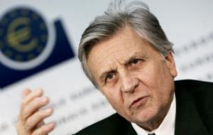 It was Trichet's last meeting since next month Mario Dragui takes over