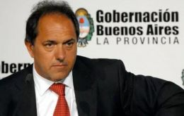Governor Daniel Scioli has assured support from the crucial Buenos Aires province