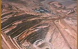 An open pit mine in Chile, the world' leading producer of copper