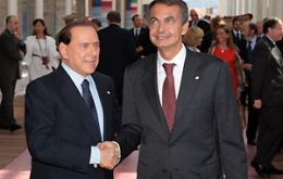 Scandals have left Berlusconi virtually KO politically and Rodriguez Zapatero is on his way out