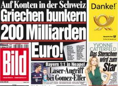 """Stop the capital flight!"" announces Bild's main editorial"