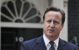 PM Cameron making his statement outside Number 10