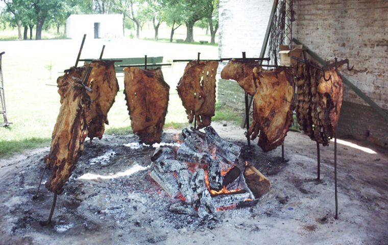 A typical River Plate barbecue