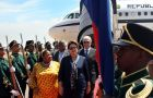 President Rousseff praised Angola's post war reconstruction achievements
