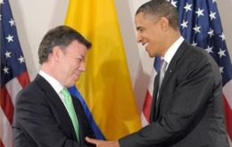 President Santos and his counterpart Obama