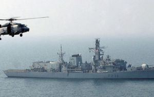 The Type 23 Duke Class frigate leaving Plymouth