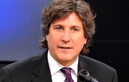 Vice-president elect and Minister of Economy Boudou made the announcement