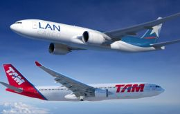 The new airline, LATAM will be among the world to ten