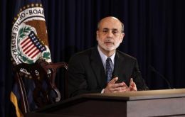 Ben Bernanke at the press conference following the FMOC