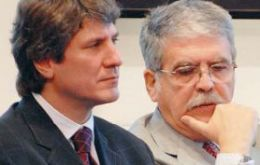 Boudou and De Vido said administration of the underground transport system will be passed to the City of Buenos Aires
