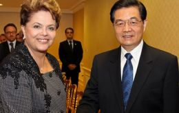 Presidents Rousseff and Hu discussed bilateral relations and cooperation