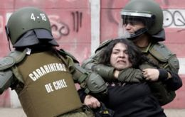 Carabineros are known for their heavy hand when repressing street demonstrations