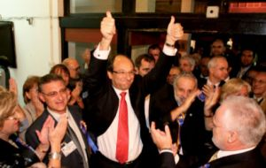 Chief Minister Peter Caruana won the last election back in 2007