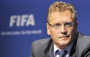 Secretary general Jerome Valcke speaks before the Brazilian congress