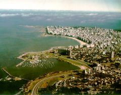 The capital Montevideo next to the sea and with plenty of green spaces