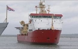 Hydrographical charting and imagery of the Antarctic region and assisting BAS, her main tasks (Photo BBC)
