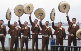 A typical mariachi group playing to celebrate the occasion