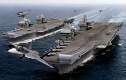 HMS Queen Elizabeth and HMS Prince of Wales were saved from the axe it would cost more to cancel the projects than to proceed with them.