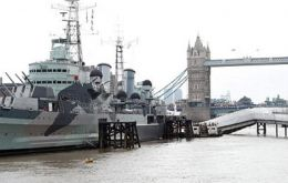 HMS Belfast is part of the Imperial War Museum