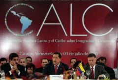 United in our differences said Chavez, at the centre of the official picture