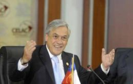 President Piñera will be hosting the next CELAC summit and Cuba in 2013