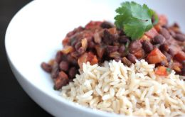 Rice and black beans is basic Cuban diet