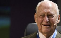 Havelange, 95, was a member of IOC for 48 years