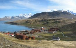 Grytviken, the old whaling station and where British polar explorer Shackleton is buried