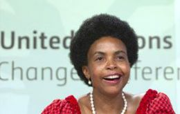 "South African Minister Maite Nkoana-Mashabane who chaired the talks said ""history was made"""