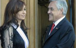 The formal invitation from Piñera was during CFK last Saturday's inauguration