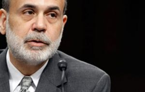 Bernanke, Fed chairman; US economy expected to advance at a moderate pace