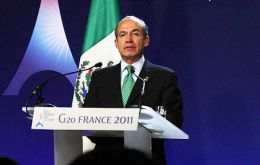 Calderon is currently and for the next twelve months president of G20