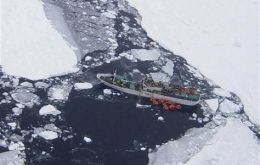 The 'Sparta' hit an underwater iceberg and is heavily listed (AP Photo/Maritime New Zealand)