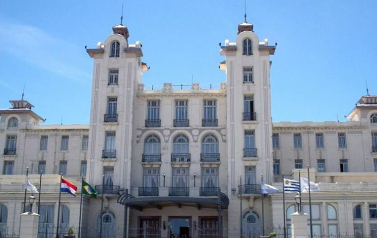 The Mercosur main building in Montevideo