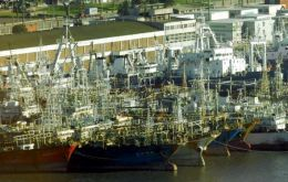 Jiggers, trawlers and long-liners docked in Montevideo