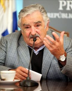 President Mujica said any form of blockade is a violation of human rights and contrary to any peaceful solution of the sovereignty dispute