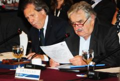 President Mujica made the announcement at the closing ceremony