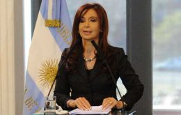 The Argentine president proceeded with her agenda as any normal day