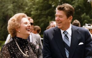 Maggie Thatcher and Ronald Reagan among the most admired