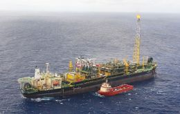 The FPSO Cidade de Vitória is operating in the area