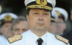 The new Navy chief, R Adm Carlos Alberto Paz is a Malvinas war veteran and expert in communications