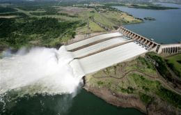 The world's largest operation hydroelectric dam, Itaipú