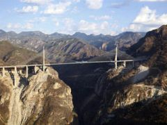 The bridge in the Sierra Madre Occidental links Mazatlan with Durango