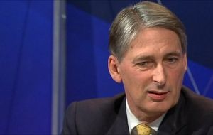 British Defence Secretary Philip Hammond made the announcement from Washington