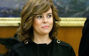 "Deputy Prime Minister Soraya Saenz de Santamaria: no ""bad bank"" to deal with toxic assets"